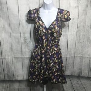 Material Girl Parrot Print High Low Dress Size S